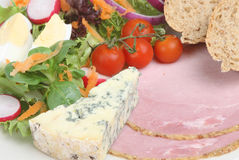 Ploughmans Lunch with Stilton Royalty Free Stock Images