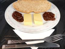 Ploughmans lunch. A traditional ploughmans lunch consists of home made bread cheese and pickle Stock Photos