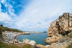 Plougrescant Beach Stock Image