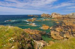 Plougrescant  coast  in Brittany. Plougrescant coast in Brittany, France Stock Photos