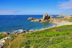 Plougrescant  coast  in Brittany. France Royalty Free Stock Photos