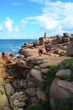 Ploumanac'h latarnia morska, Brittany Obrazy Stock