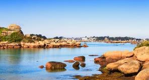 Ploumanach και παραλία Tregastel, βράχου και κόλπων Στοκ φωτογραφία με δικαίωμα ελεύθερης χρήσης