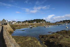 Ploumanach (Brittany) and Atlantic ocean Royalty Free Stock Image