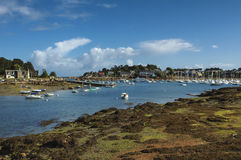 Ploumanach (Brittany) and Atlantic ocean Royalty Free Stock Photos