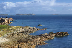 Ploumanach (Brittany) and Atlantic ocean Royalty Free Stock Images