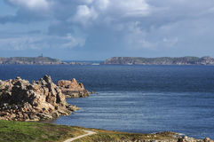 Ploumanach (Brittany) and Atlantic ocean Royalty Free Stock Photo