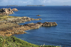 Ploumanach (Brittany) and Atlantic ocean Stock Image