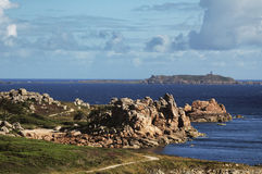 Ploumanach (Brittany) and Atlantic ocean Royalty Free Stock Photo