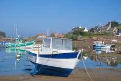 Ploumanach Brittany, Bretagne, Frankrike Arkivfoto