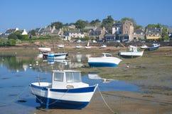 Ploumanach Brittany, Bretagne, Frankrike Fotografering för Bildbyråer