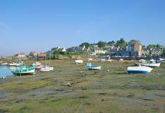 Ploumanach Brittany, Nordsjön, Frankrike Arkivbilder