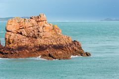Ploumanach coast spring view (Brittany, France) Royalty Free Stock Photo