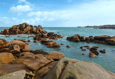 Ploumanach coast view (Brittany, France) Stock Photography