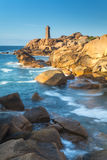 Ploumanach Lighthouse, Cote de Granit Rose. Ploumanach Lighthouse at Cote de Granit Rose, Cotes d`Amor, Brittany, France Royalty Free Stock Images