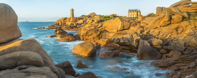 Ploumanach Lighthouse, Cote de Granit Rose. Ploumanach Lighthouse at Cote de Granit Rose on the Cotes d`Amor Brittany, France royalty free stock photos
