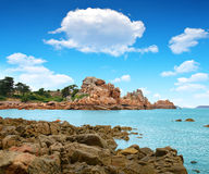 Ploumanach. Pink Granite Coast, Brittany, France Royalty Free Stock Photography