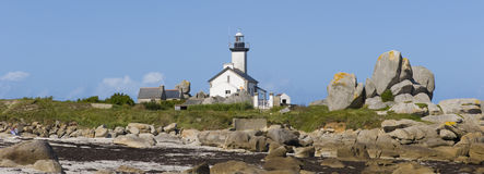 Plouneur Plage lighthouse Stock Photo