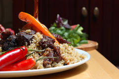 Plov. Pilaf, or pilau, traditional rice recipe of middle eastern and asian countries Stock Photography