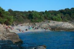 Plovanije beach on Kamenjak in Croatia in the summer day Stock Photo