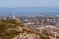 Plovdiv άποψη του βάθρου Alyosha Στοκ φωτογραφία με δικαίωμα ελεύθερης χρήσης