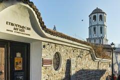 PLOVDIV, ΒΟΥΛΓΑΡΙΑ - 2 ΙΑΝΟΥΑΡΊΟΥ 2017: Εκκλησία του ST Constantine και του ST Elena από την περίοδο βουλγαρικής αναγέννησης σε P Στοκ Εικόνα
