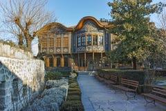PLOVDIV, ΒΟΥΛΓΑΡΙΑ - 2 ΙΑΝΟΥΑΡΊΟΥ 2017: Οικοδόμηση του εθνογραφικού μουσείου στην παλαιά πόλη Plovdiv Στοκ εικόνες με δικαίωμα ελεύθερης χρήσης