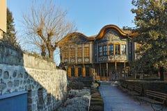 PLOVDIV, ΒΟΥΛΓΑΡΙΑ - 2 ΙΑΝΟΥΑΡΊΟΥ 2017: Οικοδόμηση του εθνογραφικού μουσείου στην παλαιά πόλη Plovdiv Στοκ Φωτογραφίες