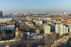 PLOVDIV, ΒΟΥΛΓΑΡΙΑ - 2 ΙΑΝΟΥΑΡΊΟΥ 2017: Πανόραμα στην πόλη Plovdiv από το λόφο nebet tepe Στοκ εικόνα με δικαίωμα ελεύθερης χρήσης