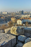 PLOVDIV, ΒΟΥΛΓΑΡΙΑ - 2 ΙΑΝΟΥΑΡΊΟΥ 2017: Πανόραμα στην πόλη Plovdiv από το λόφο nebet tepe Στοκ Εικόνα
