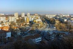 PLOVDIV, ΒΟΥΛΓΑΡΙΑ - 2 ΙΑΝΟΥΑΡΊΟΥ 2017: Πανόραμα στην πόλη Plovdiv από το λόφο nebet tepe Στοκ φωτογραφία με δικαίωμα ελεύθερης χρήσης