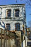 PLOVDIV, ΒΟΥΛΓΑΡΙΑ - 2 ΙΑΝΟΥΑΡΊΟΥ 2017: Παλαιά σπίτια στην παλαιά κωμόπολη στην πόλη Plovdiv Στοκ Εικόνες