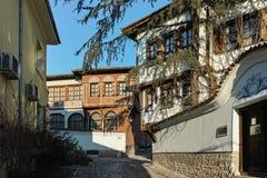 PLOVDIV, ΒΟΥΛΓΑΡΙΑ - 2 ΙΑΝΟΥΑΡΊΟΥ 2017: Σπίτι από την περίοδο βουλγαρικής αναγέννησης στην παλαιά πόλη Plovdiv Στοκ εικόνες με δικαίωμα ελεύθερης χρήσης