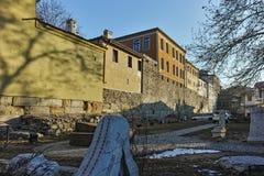 PLOVDIV, ΒΟΥΛΓΑΡΙΑ - 2 ΙΑΝΟΥΑΡΊΟΥ 2017: Σπίτι από την περίοδο βουλγαρικής αναγέννησης στην παλαιά πόλη Plovdiv Στοκ Φωτογραφία