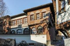PLOVDIV, ΒΟΥΛΓΑΡΙΑ - 2 ΙΑΝΟΥΑΡΊΟΥ 2017: Σπίτι από την περίοδο βουλγαρικής αναγέννησης στην παλαιά πόλη Plovdiv Στοκ Φωτογραφίες