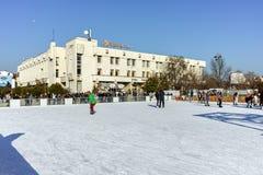 PLOVDIV, ΒΟΥΛΓΑΡΙΑ - 2 ΙΑΝΟΥΑΡΊΟΥ 2017: Τετράγωνο Tsentralen σε Plovdiv, Βουλγαρία Στοκ Φωτογραφίες