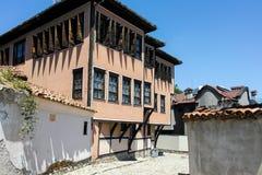 PLOVDIV, ΒΟΥΛΓΑΡΙΑ - 10 ΙΟΥΝΊΟΥ 2017: Σπίτι από την περίοδο βουλγαρικής αναγέννησης στην παλαιά πόλη Plovdiv Στοκ Φωτογραφία