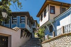 PLOVDIV, ΒΟΥΛΓΑΡΙΑ - 10 ΙΟΥΝΊΟΥ 2017: Σπίτι από την περίοδο βουλγαρικής αναγέννησης στην παλαιά πόλη Plovdiv Στοκ εικόνα με δικαίωμα ελεύθερης χρήσης