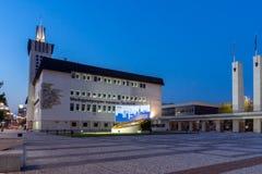 PLOVDIV, ΒΟΥΛΓΑΡΙΑ - 4 ΣΕΠΤΕΜΒΡΊΟΥ 2016: Άποψη ηλιοβασιλέματος της Διεθνούς Έκθεσης Plovdiv Στοκ φωτογραφία με δικαίωμα ελεύθερης χρήσης