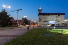 PLOVDIV, ΒΟΥΛΓΑΡΙΑ - 4 ΣΕΠΤΕΜΒΡΊΟΥ 2016: Άποψη ηλιοβασιλέματος της Διεθνούς Έκθεσης Plovdiv Στοκ Φωτογραφίες