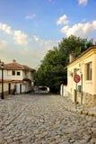Plovdiv, Βουλγαρία Άποψη σχετικά με την παλαιά οδό πόλης περιπάτων Στοκ Εικόνα