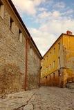 Plovdiv, Βουλγαρία Άποψη σχετικά με την παλαιά οδό πόλης περιπάτων Στοκ φωτογραφίες με δικαίωμα ελεύθερης χρήσης