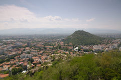 Plovdiv. View from one of the hills of Plovdiv Bulgaria royalty free stock images