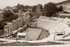 Plovdiv Amphitheater. Ancient Roman amphitheater in Plovdiv, Bulgaria Stock Photo