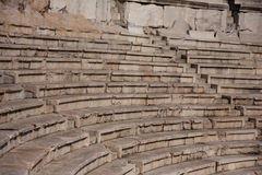 Plovdiv amphitheatre. Historical sight from antic time. Auditorium Stock Photo