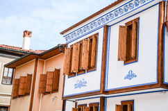 Plovdiv Architecture. Traditional houses in the old part of Plovdiv, Bulgaria royalty free stock photography