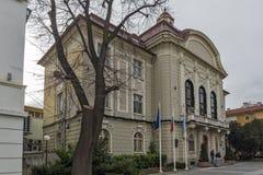 PLOVDIV, BULGARIA - 30 DE DICIEMBRE DE 2016: Edificio ayuntamiento en Plovdiv Imagen de archivo