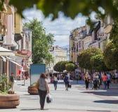 Plovdiv Bulgaria downtown pedestrian street Stock Photos