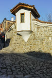 PLOVDIV, BULGARIA - JANUARY 2 2017: Building of Ethnographic Museum in old town of Plovdiv Royalty Free Stock Photography