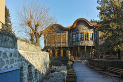 PLOVDIV, BULGARIA - JANUARY 2 2017: Building of Ethnographic Museum in old town of Plovdiv Stock Photos
